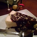 Sicilian Cheesecake with Andes mint topping. A favorite!