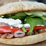 Patras vegetarian sandwich on gluten free bread