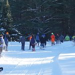 Snowshoers heading out on the wonderful trails.