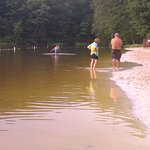 Little beach area and lake at Col. Denning State Park, PA