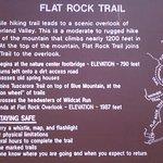 Flat Rock Trail information, Col Denning State Park, PA