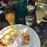 Fresh lobster egg Benedict, freshly squeezed OJ and key lime pie. A must when in Key West!
