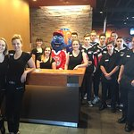 Celebrity Server with the MJ Warriors