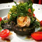 Gamberoni Sanguinaccio - Black Pudding, King Prawns