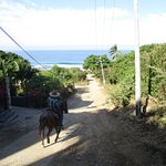 making our way through Higuera Blanca to the beach