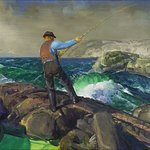 George Bellows (1882–1925), The Fisherman, 1917, oil on canvas, ACMAA