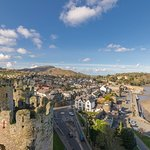 View from the top looking over Conwy