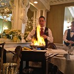 preparing bananas Foster