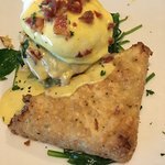 Chesapeakde Benedict features a yummy crab cake