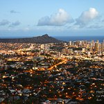 VIEW OF DIAMOND HEAD AT SUNSET
