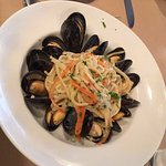 Spaghetti with mussels at Il Nido