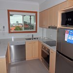 upgraded Kitchen, stone bench top and stainless steel appliances