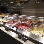 Range of hot breakfasts.
