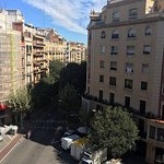 Morning view on Carrer de Calàbria - View from room 68.