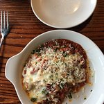 The bar, lasagne, chicken gnocchi soup, interior