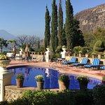 The beautiful pool area