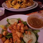 Side Salad and Nachos