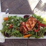 Grilled Salmon Baby Beet & Arugula Salad