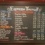 Full espresso bar using LOCALLY ROASTED coffee!