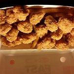 Chicken bites box, sauce