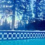 Outdoor hot pool