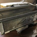 NASTY A/C that was retrieved from room 108. Notice dirt/dents, etc.