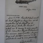 Note written by pilot of Army One