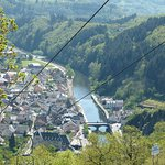 View of Vianden from under the chairlift route
