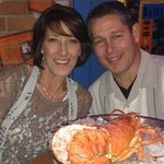 My Husband & I enjoying the Seafood Tower for Two
