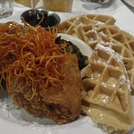 The chicken and waffles. Best hands down. Wish i could eat this all the time.