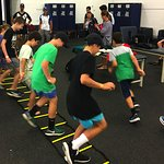 Visitors are put through their paces in the MCG changerooms.