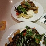 The $15.00 Steak Meal and the Salt n Pepa Squid, (with bonus glass of Rose!)