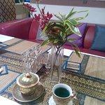 Синий чай в ресторане Thai Pattara Restuarant