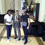 Pic with Chief concierge Salah Nasr. Good and very friendly man. All the workers are.