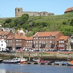 Whitby Town and its famous Abbey.