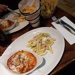 Chicken Lasagne & Penne Carbonara