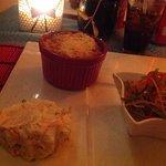 Macaroni Pie, Potato Salad & Curry Goat
