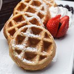 Waffles served at the Holiday Inn New Orleans Westbank
