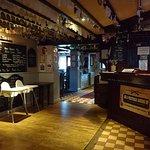 The Bar through the Dining Area, bear Garden, Smokers Area and Car Park