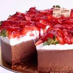 Torta Brownie de Morango