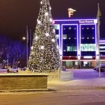 The Xmas tree in Narva city centre.