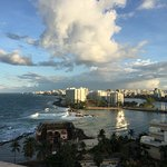 Caribe Hilton, San Juan, PR, view from our room on 11th floor