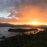 Sunset over Savusavu from Naveria Heights Lodge