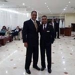 Con  Súper viceministro de turismo, Julio Almonte en el Hodelpa Gran Almirante