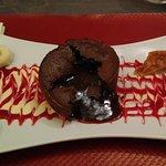 Moelleux chocolat, sorbet mandarine