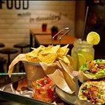 Burrito Steak / Tortilla Chips / Pico de Gallo / Homemade Lemonade