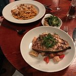 I loved this restaurant I had the swordfish my girlfriend had the chicken pasta both were delici