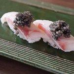 Sushi with caviar; Beluga or Oscietra available
