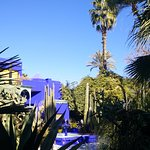 The skies just didn't become Majorelle Blue, but they sure tried!