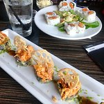 Viva Las Vegas roll and lunch spicy tuna roll